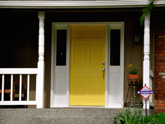 Yellow front door paint colors inspirational for Front door yellow paint