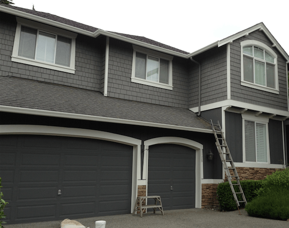 Gray exterior paint colors elegant painting - Dark grey exterior house paint concept ...