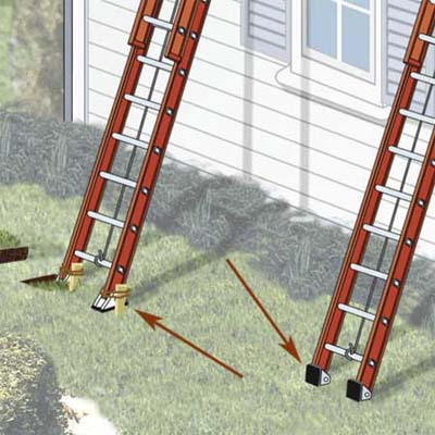 elegant painting ladder feet