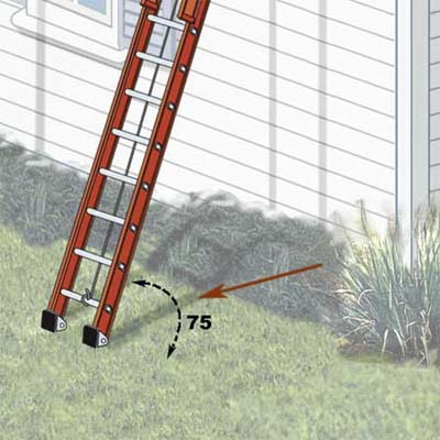 elegant painting ladder-safety