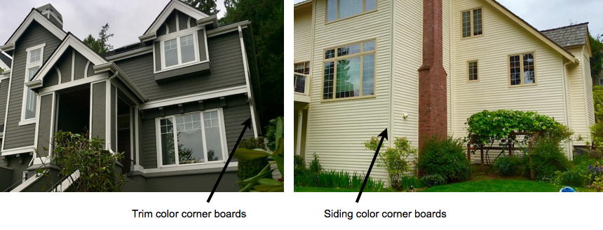 Exterior corners - Should they be painted trim or siding color? -