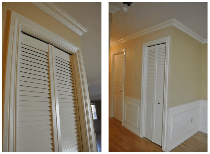 paintintg louver doors