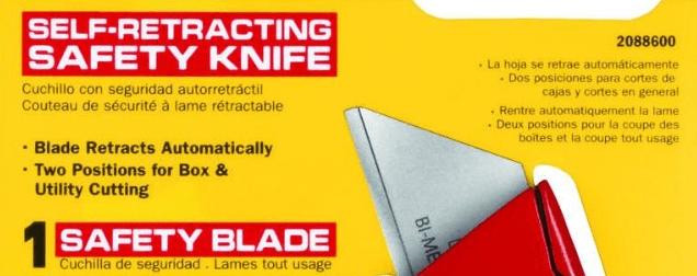 self retracting box cutter