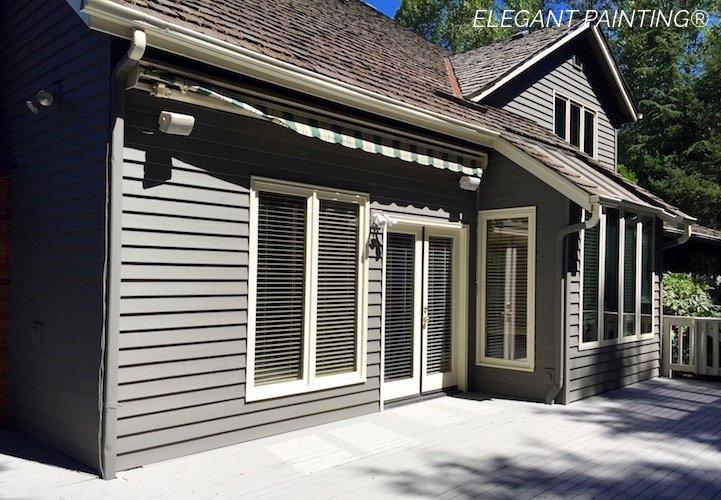 gauntlet gray sw7019 house painting in sammamish bellevue redmond. Black Bedroom Furniture Sets. Home Design Ideas