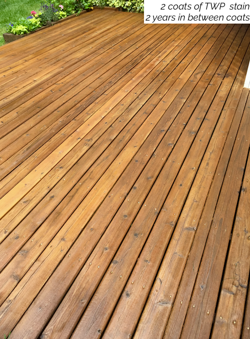Twp natural cedar tone deck stain - How long does exterior paint last on wood ...