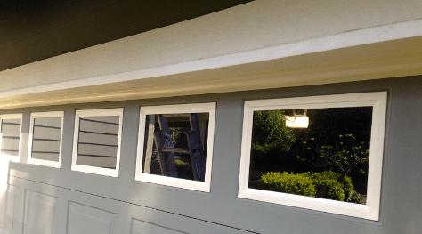 painting garage door windows