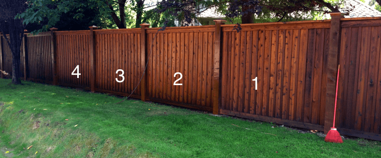 Wood Stain Fence