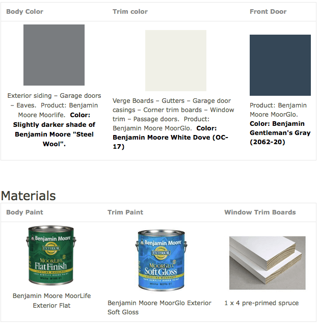 gray exterior colors