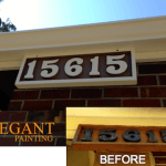 house numbers painted