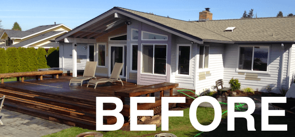 deck and house window trim