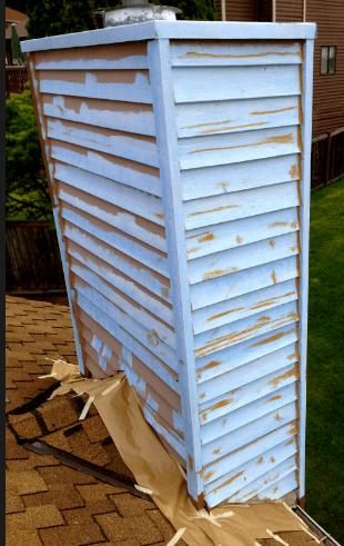 cedar siding going bad on chimney
