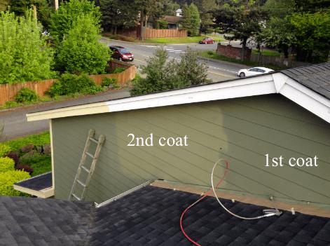 masking roof painting chimney