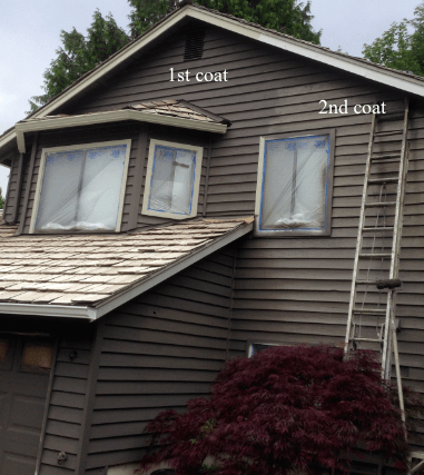 sammamish two coats of paint on siding