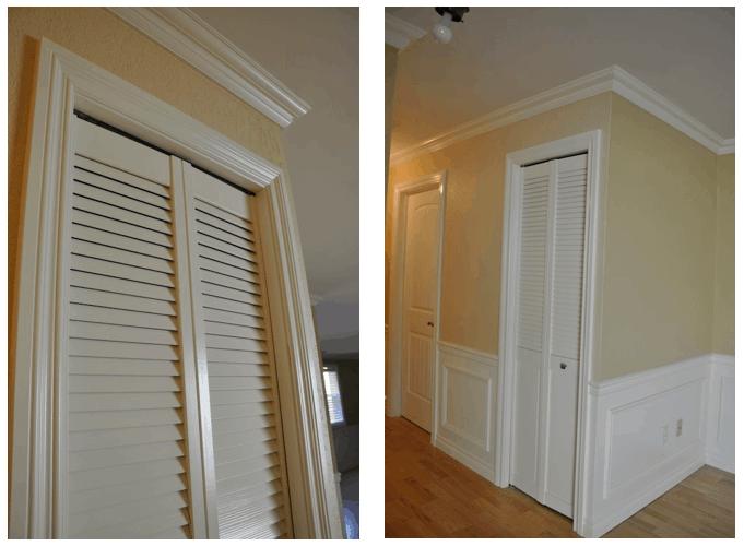paintintg louver doors